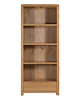 Malmo Curve Oak Tall Bookcase