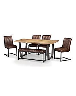 Camden Table with 4 Chairs & Bench