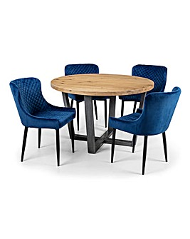 Camden Round Table 4 Sloane Chairs