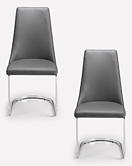 Santo Cantilever Pair of Dining Chairs