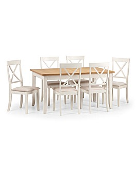 Paignton Extending Table & 6 Chairs