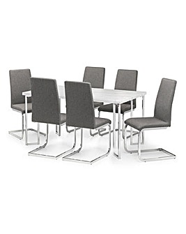 Rimini Dining Table With 6 Zeta Chairs
