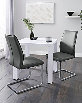 Halo Dining Table with 2 Atlanta Chairs