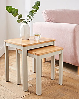 Logan Two-Tone Nest of 2 Tables