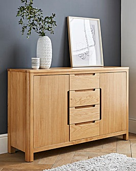 Logan Oak 2 Door 4 Drawer Sideboard