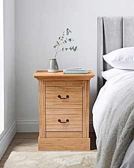Ashford 2 Drawer Bedside Table
