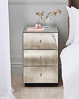Deco Assembled Mirrored Bedside table