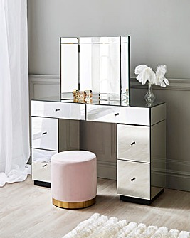 Deco Assembled Mirrored Dressing Table