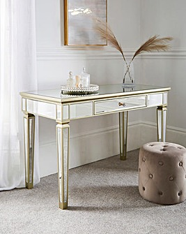 Isabella Assembled Mirrored Dressing Table