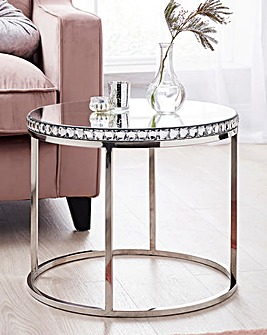 Marbella Mirrored Side Table