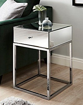 Claudia Mirrored Side Table