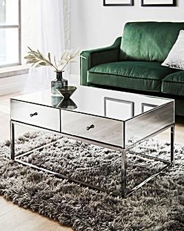 Claudia Mirrored Coffee Table
