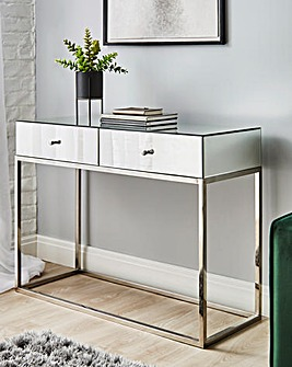 Claudia Mirrored Console Table