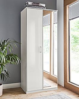Porto Gloss 2 Door Mirrored Wardrobe