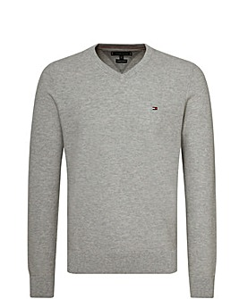 Tommy Hilfiger V-Neck Fine Knit Jumper