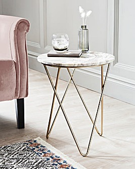 Zeta Marble Side Table
