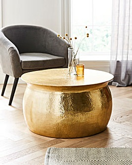 Aula Hammered Metal Coffee Table