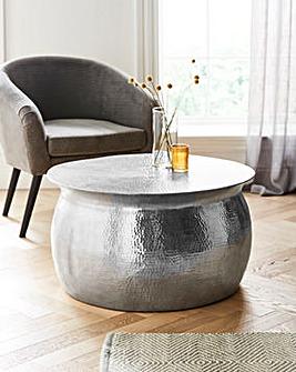 Aula Hammered Metal Coffee Table