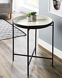 Zara Metal Folding Side Table