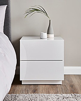 Allure High Gloss 2 Drawer Bedside Table