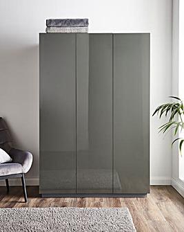 Allure High Gloss 3 Door Wardrobe
