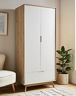 Ezra 2 Door 1 Drawer Wardrobe