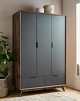 Ezra 3 Door 2 Drawer Wardrobe