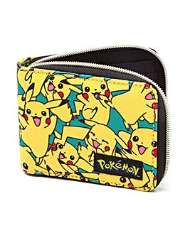 POKEMON All-over Pikachu Zip Wallet