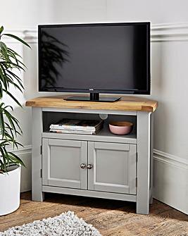 Faversham Assembled Oak & Painted Corner TV Unit