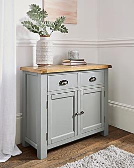 Faversham Assembled Oak & Painted 2 Door 2 Drawer Sideboard