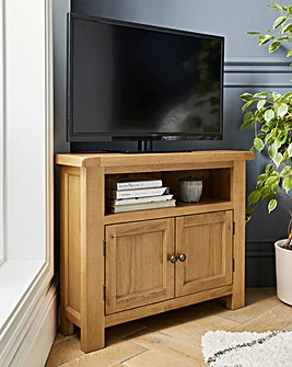 Faversham Assembled Oak Corner TV Unit