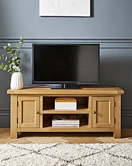 Faversham Assembled Oak TV Unit