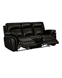 Warwick Luxury Leather 3 Seater Recliner Sofa