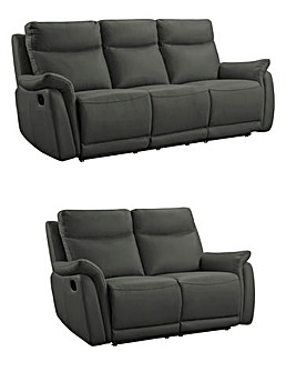 Falmouth Leather 3 plus 2 Seater Recliner Sofa