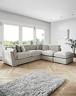 Lexy Standardback Righthand Corner group with Footstool
