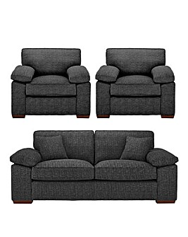 Spencer Standardback 3 Seater Sofa plus 2 Chairs