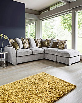 Cascade Pillowback Righthand Cornergroup with Footstool