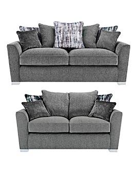 Cascade Pillowback 3 plus 2 Seater Sofa