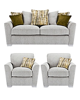 Cascade Pillowback 3 Seater Sofa plus 2 Chairs