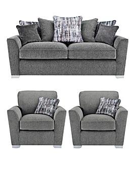 Cascade Pillowback 3 Seater Sofa plus 2 Chairs