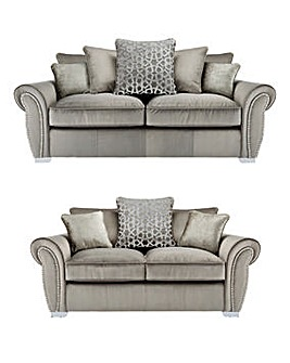 Chelsea Pillowback 3 plus 2 Seater Sofa