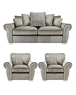 Chelsea Pillowback 3 Seater Sofa plus 2 Chairs
