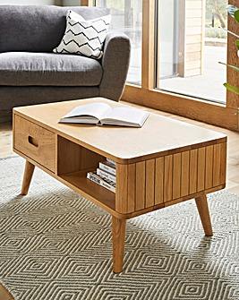 Peyton Oak Storage Coffee Table