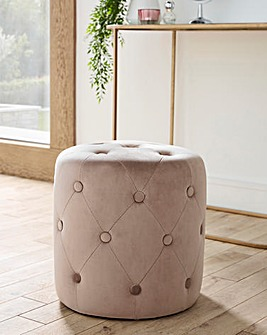 Nicole Buttoned Stool