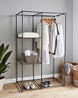 Metal Wardrobe with 3 shelves