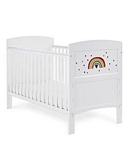 Obaby Grace Inspire Cotbed Rainbow