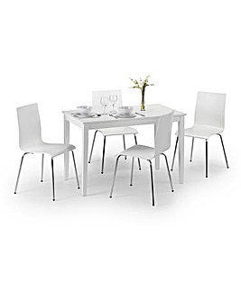 Cosmo Dining Table with 4 Dining Chairs