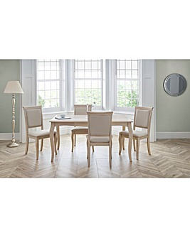Linea Dining Table with 4 Chairs