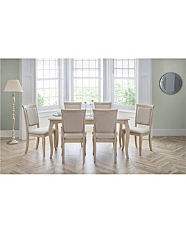 Linea Dining Table with 6 Chairs
