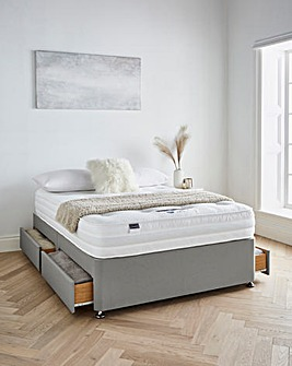 Silentnight Tranquility 1000 Pocket Ortho Memory Divanset with 4 Drawers